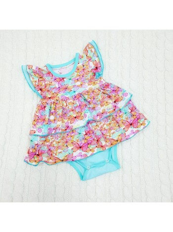 Платье-боди для девочки размер 74 (выкройка)