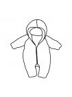 Комбинезон утепленный детский размер 50 (выкройка)
