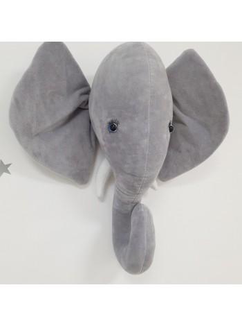 Голова Слона на стену (выкройка)