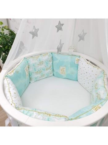 Бортики подушки в детскую кроватку (выкройка)